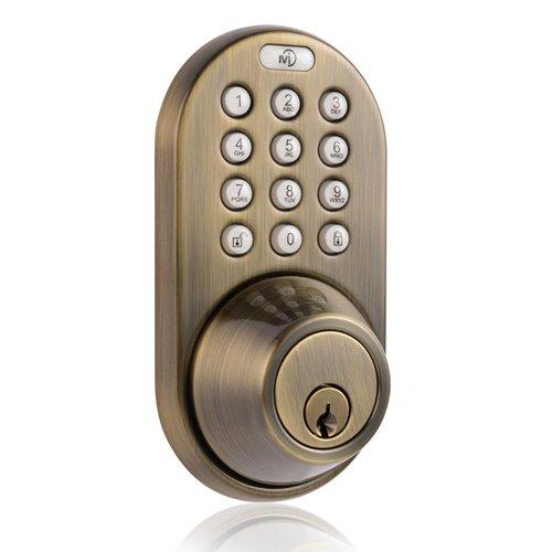 Remote Controlled Wireless Door Lock DEADBOLT-RF-Nickel